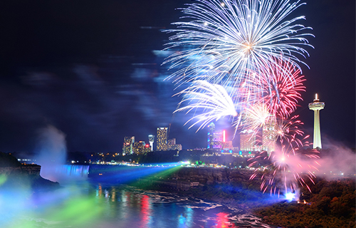 Ramada By Wyndham Niagara Falls By The River - Fallsview Hotel - Upcoming Events - Cascades of Fire
