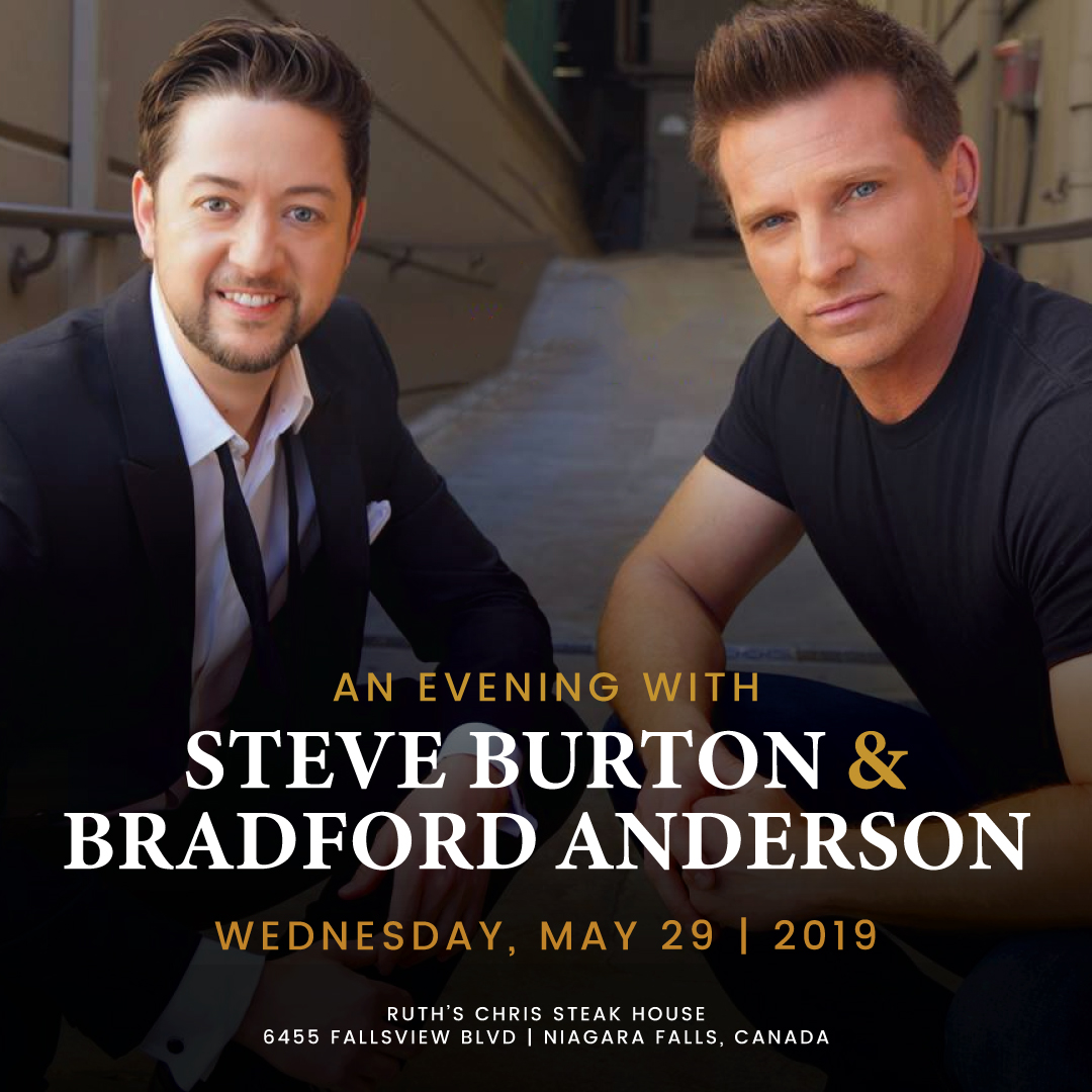 Evening with Steve Burton & Bradford Anderson  Hotel Packages - fallsinfo