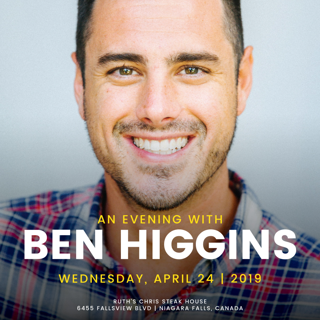 Evening with Ben Higgins  Hotel Packages -