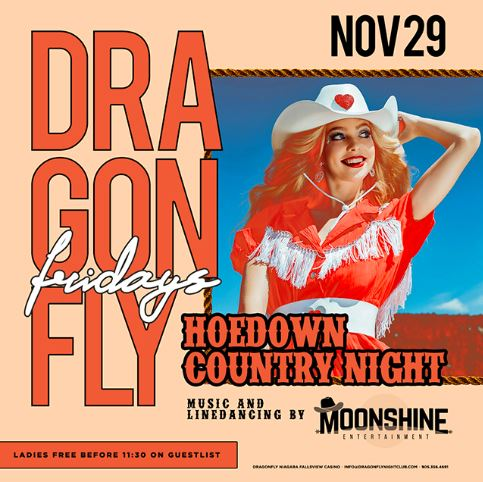 Dragonfly Fridays ~ Hoedown Country Night Hotel Packages -