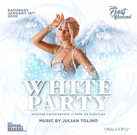 Dragonfly Saturdays ~ What Happens in Niagara... White Party Hotel Packages -