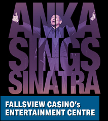 Paul Anka Anka sings Sinatra: His Songs, My Songs, My Way! Hotel Packages - Days Inn Niagara Falls Lundy's Lane