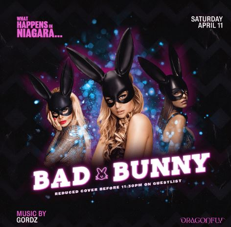 Dragonfly Saturdays ~ What Happens in Niagara... Bad Bunny Hotel Packages -